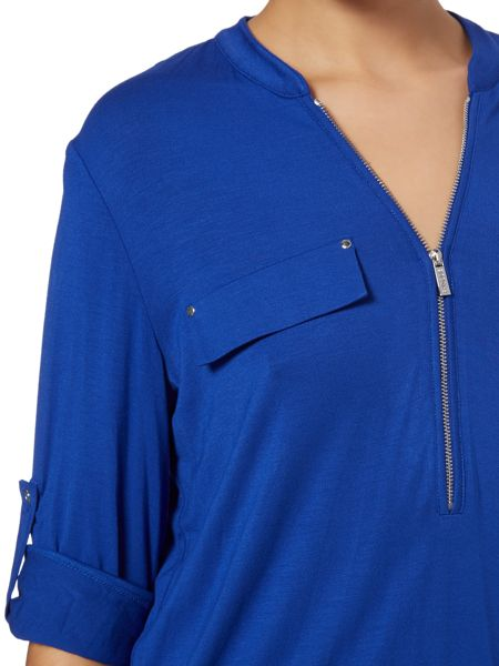 Episode Jersey blouse with zip collar