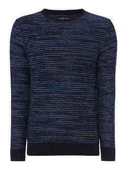 Men's Criminal Lindell Twisted Yarn Crew Neck Jumper