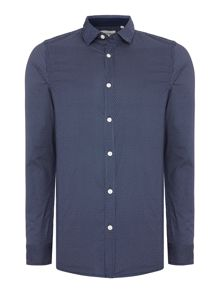 Only & Sons All Over Polka Dot Long Sleeve Shirt