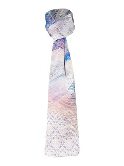 Arenea dreamscope wide silk scarf