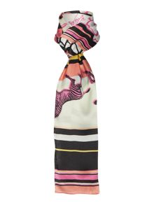 Ted Baker Dion zebra trial long scarf