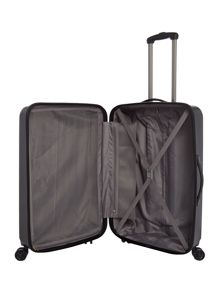 Linea Orba black hard 8 wheel large suitcase