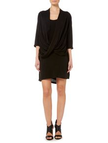 Label Lab Washed twist front shirt dress