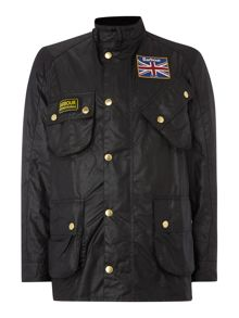 Union jack lined motorcycle jacket
