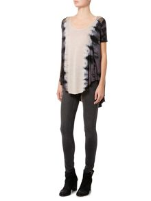 Label Lab Tie dye mesh yoke top