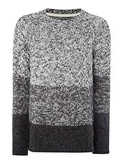 Chunky Stripe Gradient Knitted Jumper