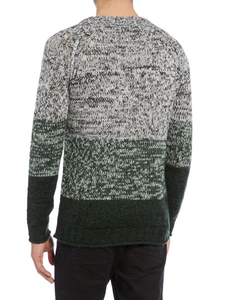 Only & Sons Chunky Stripe Gradient Knitted Jumper
