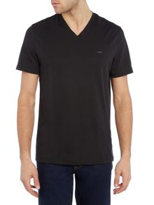 Michael Kors Regular fir V neck sleek MK t shirt
