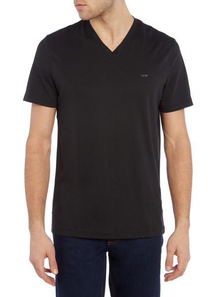 Michael Kors Regular fit V neck sleek MK t shirt