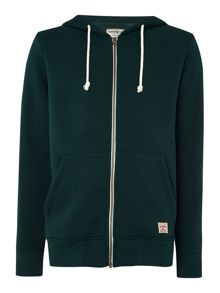 Padded Zip Through Sweatshirt