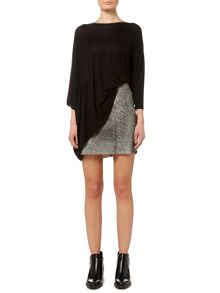 Label Lab Distressed leather skirt