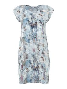 Rockpool print double layer dress