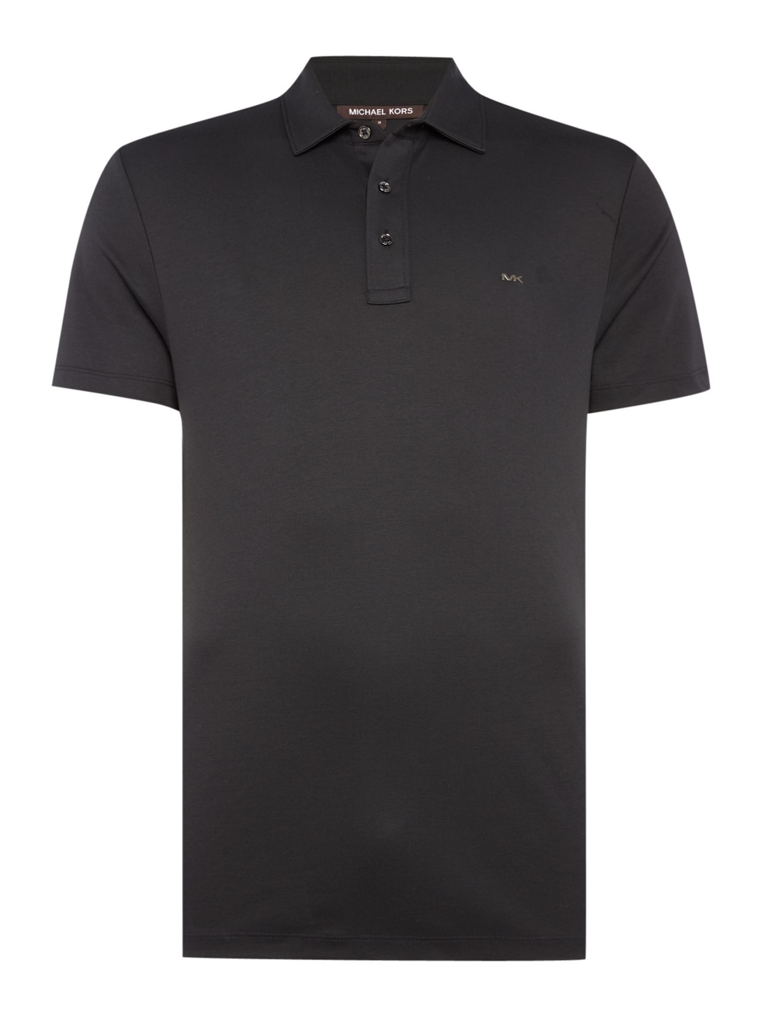 Men's Michael Kors Slim fit sleek MK logo polo shirt, Black