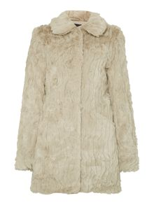 Vila Faux Fur Coat