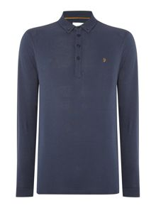 Merriweather regular fit long sleeve polo shirt