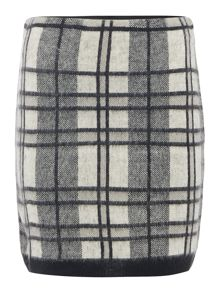 Vero Moda Check Printed Mini Skirt