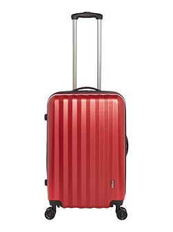 Orba red hard 8 wheel medium suitcase