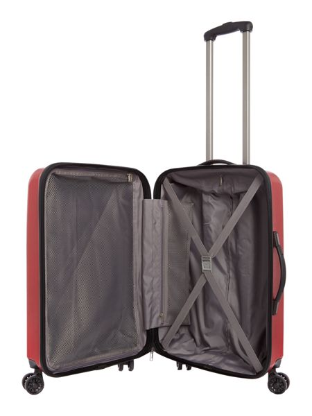 Linea Orba red hard 8 wheel medium suitcase