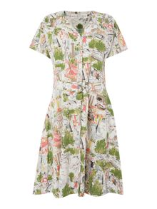 BRAINTREE Printed button up front dress