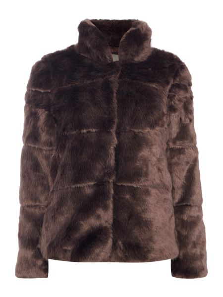 Vero Moda Long Sleeved Faux Fur Jacket