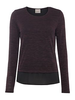 Long Sleeved Fleck Top