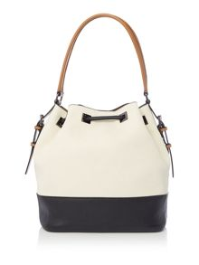 Madison drawstring bucket handbag