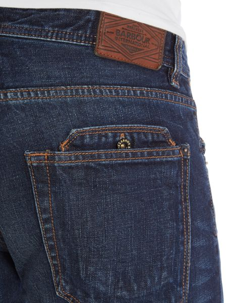 Barbour Dark Wash Comet Slim Jeans
