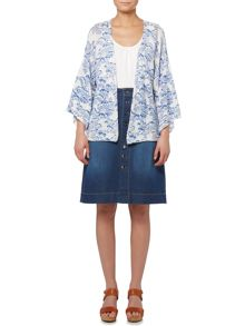BRAINTREE Printed button up cardi