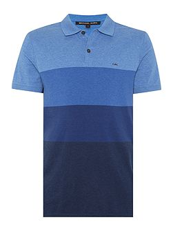Regular fit block stripe polo shirt