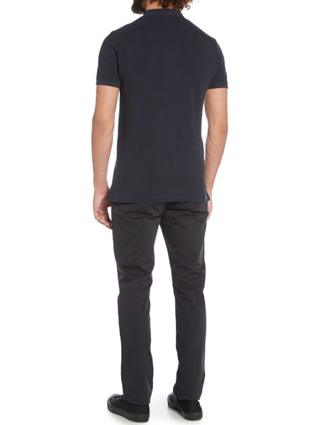 Label Lab Teller Garment Dyed Pique Polo Shirt