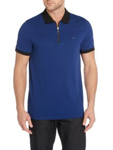 Michael Kors Regular fit zip neck pique polo shirt