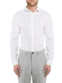 Michael Kors Slim fit cotton stretch poplin shirt