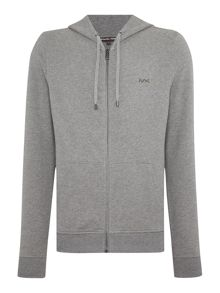 Michael Kors Fleece lined zip through hoodie