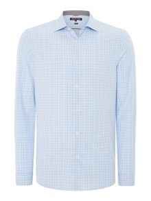 Michael Kors Balint slim fit grid check shirt