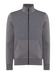 Michael Kors Funnel neck 1/2 zip quilted sweatshirt