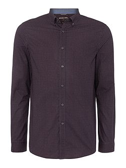 Luke slim fit micro sqaure printed shirt