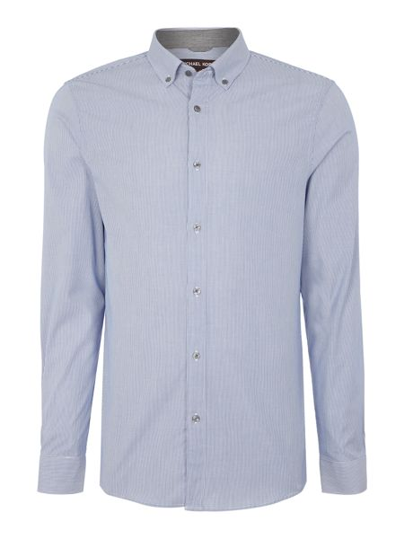 Michael Kors Brad slim fit button down micro stripe shirt