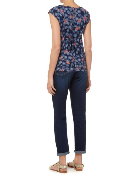 Brakeburn Abstract floral blouse