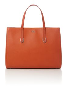 Hugo Boss Norah orange tote bag