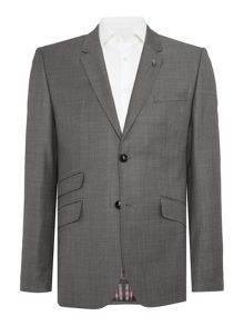 Modmar Slim Sharkskin Suit Jacket