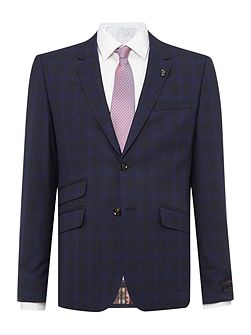 Restor Slim Tonal Check Suit Jacket