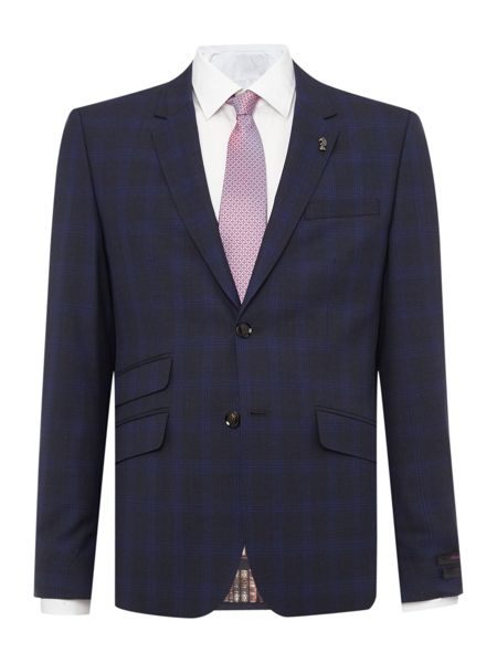 Ted Baker Restor Slim Tonal Check Suit Jacket