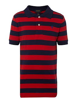 Polo Ralph Lauren Boys Stripe Logo Mesh Polo