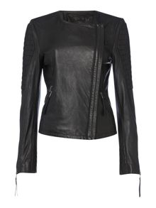 Tribe leather biker jacket