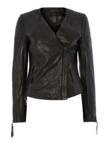 Label Lab Tribe leather biker jacket
