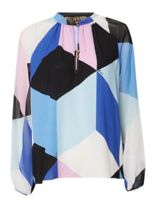 Biba Printed high neck blouse