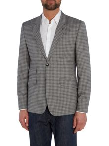 Tench Slim Grey Check Suit Jacket