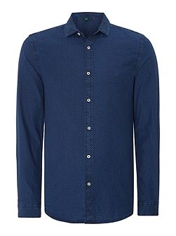 Men's Benetton Mens Long Sleeved Polka Dot Shirt