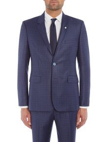 Ted Baker Hopski Slim Blue Gingham Suit Jacket