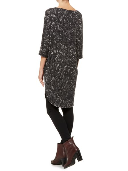 Label Lab Feather print supersoft cocoon dress